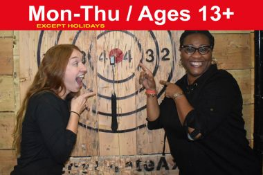 1.5 Hr Axe Throwing reservation