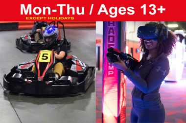 Reservation for 1 Race + 2 VR Sessions (Save $7)