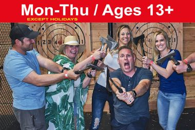 1.5 Hr PRIVATE Axe Throwing Session for up to 12 ppl (Save up to $90)