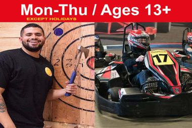PRIVATE Race & Axe Throwing Combo for up to 10 ppl. (Save up to $50)
