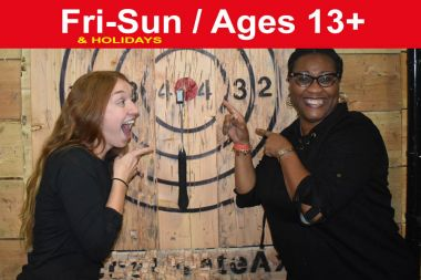 1.5 Hr Axe Throwing reservation Weekends