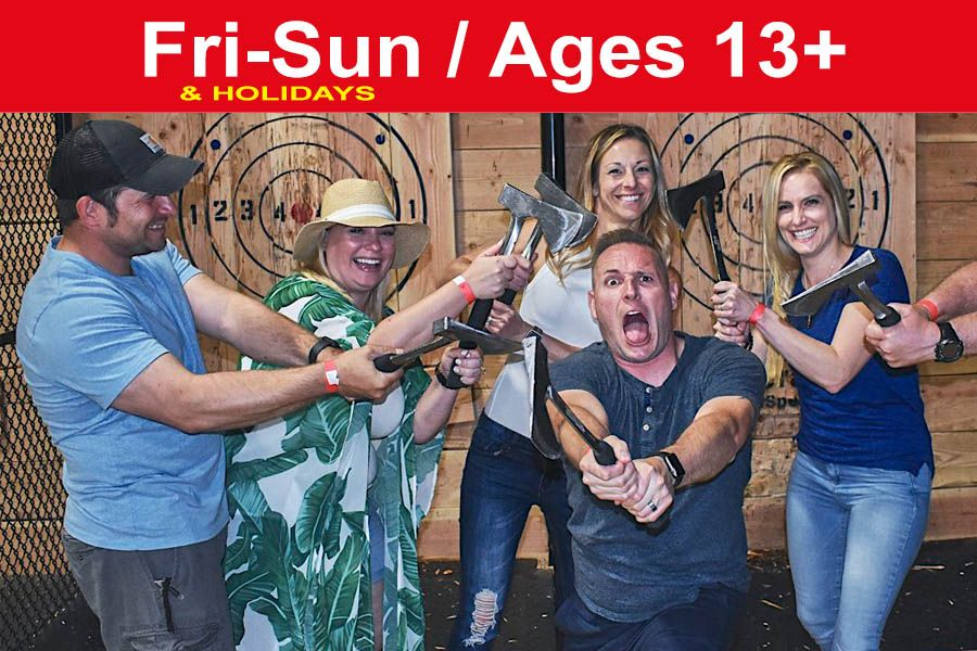 1.5 Hr PRIVATE Axe Throwing for up to 12 ppl (Save up to $60)