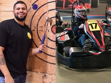 PRIVATE Race and Axe Throwing Combo (Age 13+ ONLY, Mon-Thu)