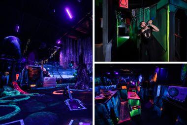 glowgolf en lasergame kinderfeestje