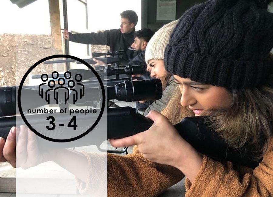 Air Rifles   3-4 people   45 minutes