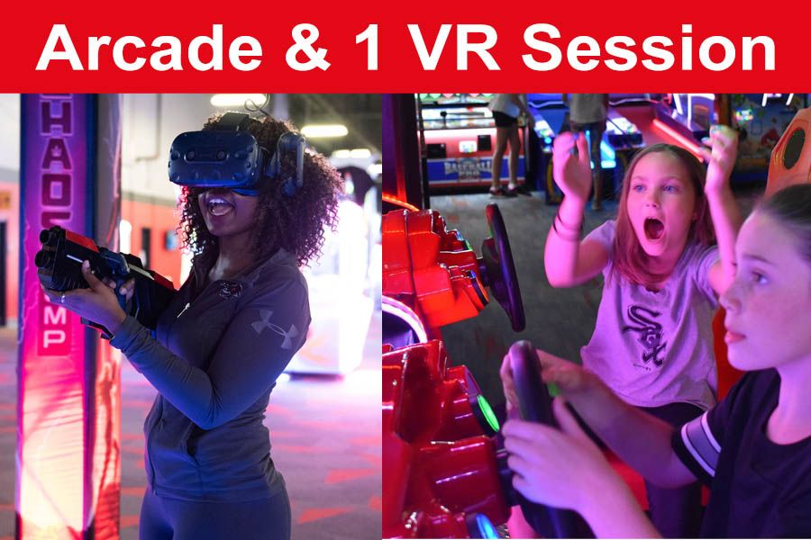 1 VR Session & 1 Hour Unlimited Arcade Card (Save $5)