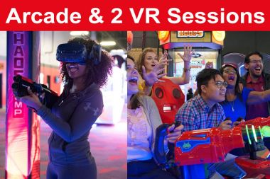 2 VR Sessions  & 1 Hour Unlimited Arcade Card (Save $10)